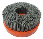 "Part # WIRE100QCR080 Tenax 4"" Snail Lock Wire Brush 80"